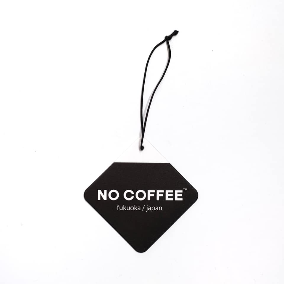 "NO COFFEE × retaW car tag ""NO*"""