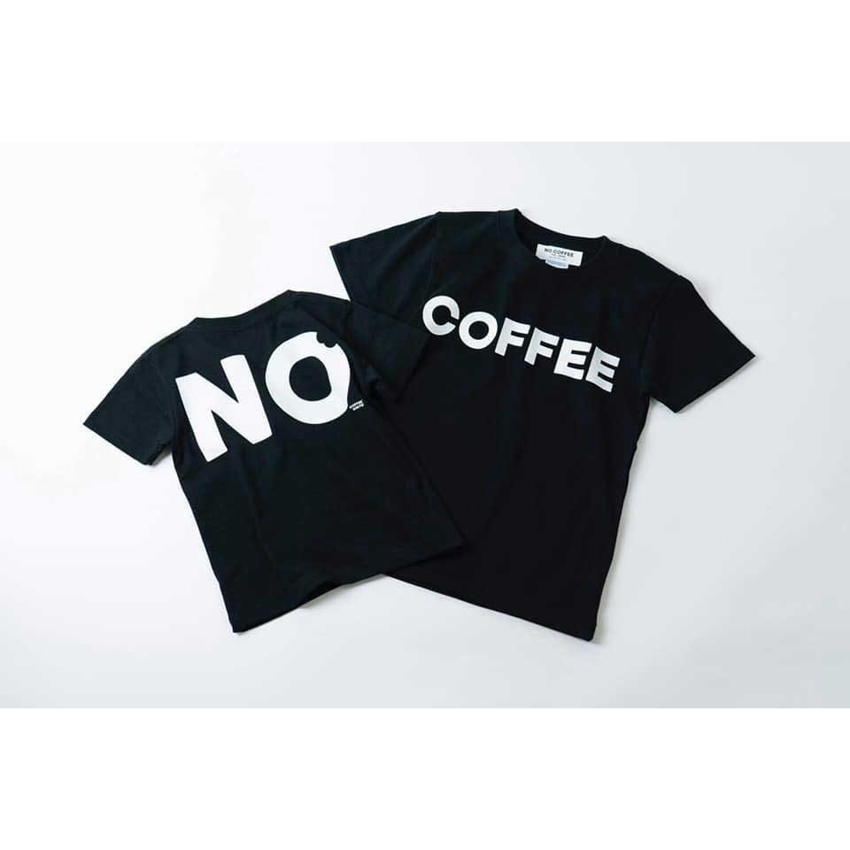 NO COFFEEとDO NUTSのコラボレーションキッズTシャツ